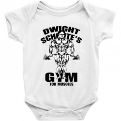 dwight schrute's gym for muscles Baby Bodysuit | Artistshot