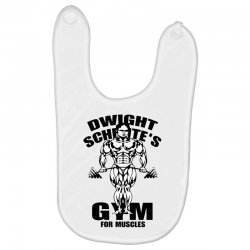 dwight schrute's gym for muscles Baby Bibs | Artistshot