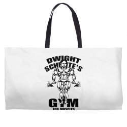 dwight schrute's gym for muscles Weekender Totes | Artistshot