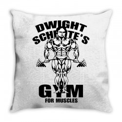 dwight schrute's gym for muscles Throw Pillow | Artistshot
