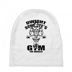 dwight schrute's gym for muscles Baby Beanies | Artistshot