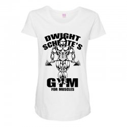 dwight schrute's gym for muscles Maternity Scoop Neck T-shirt | Artistshot