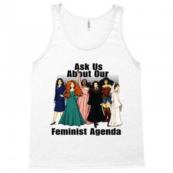 ask us about our feminist agenda Tank Top | Artistshot