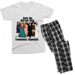 ask us about our feminist agenda Men's T-shirt Pajama Set | Artistshot