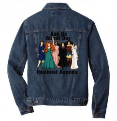 ask us about our feminist agenda Men Denim Jacket | Artistshot