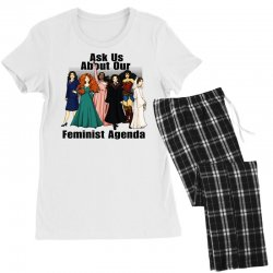 ask us about our feminist agenda Women's Pajamas Set | Artistshot