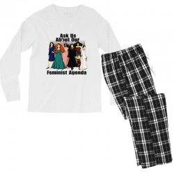ask us about our feminist agenda Men's Long Sleeve Pajama Set | Artistshot