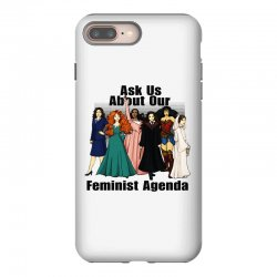 ask us about our feminist agenda iPhone 8 Plus Case | Artistshot
