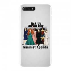 ask us about our feminist agenda iPhone 7 Plus Case | Artistshot