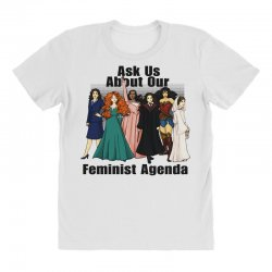 ask us about our feminist agenda All Over Women's T-shirt | Artistshot