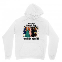 ask us about our feminist agenda Unisex Hoodie | Artistshot