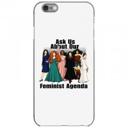 ask us about our feminist agenda iPhone 6/6s Case | Artistshot
