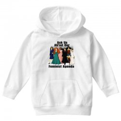 ask us about our feminist agenda Youth Hoodie | Artistshot