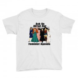 ask us about our feminist agenda Youth Tee | Artistshot