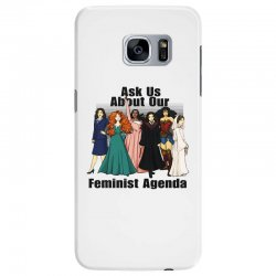 ask us about our feminist agenda Samsung Galaxy S7 Edge Case | Artistshot