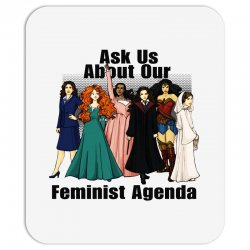 ask us about our feminist agenda Mousepad | Artistshot
