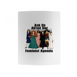 ask us about our feminist agenda Mug | Artistshot