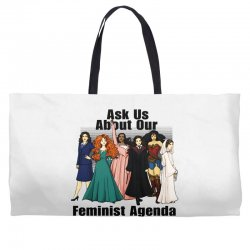 ask us about our feminist agenda Weekender Totes | Artistshot