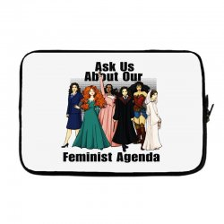 ask us about our feminist agenda Laptop sleeve | Artistshot