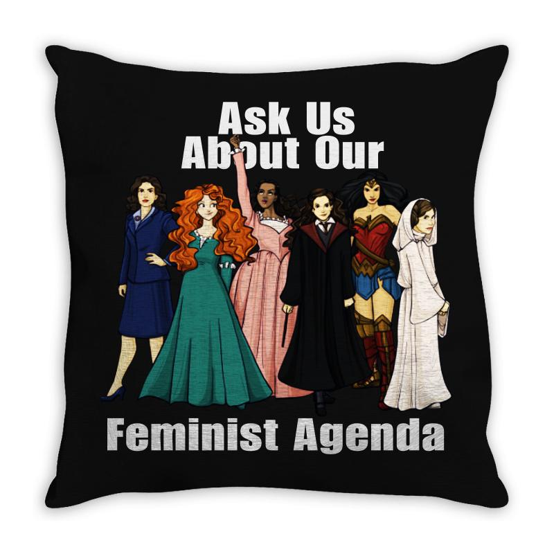 Feminist Agenda Throw Pillow | Artistshot