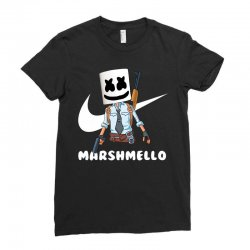 fornite marshmello and the gun Ladies Fitted T-Shirt | Artistshot