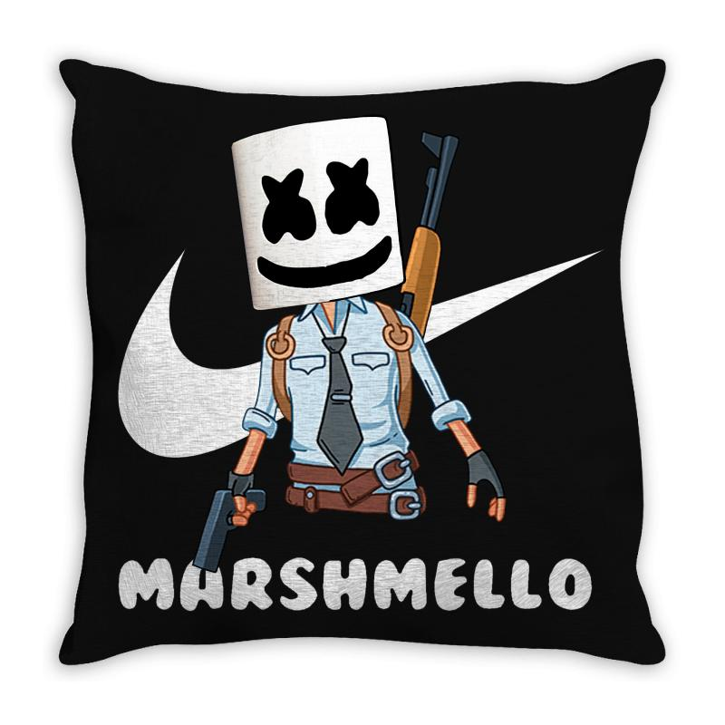 Fornite Marshmello And The Gun Throw Pillow | Artistshot