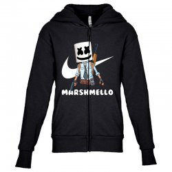 fornite marshmello and the gun Youth Zipper Hoodie | Artistshot