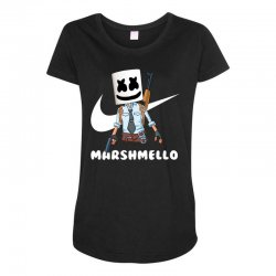 fornite marshmello and the gun Maternity Scoop Neck T-shirt | Artistshot