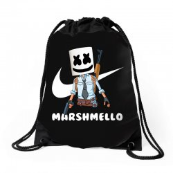 fornite marshmello and the gun Drawstring Bags | Artistshot