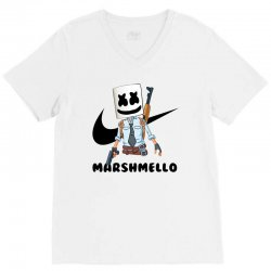 funny fornite marshmello and the gun V-Neck Tee | Artistshot