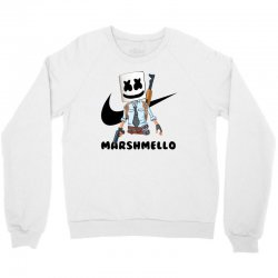 funny fornite marshmello and the gun Crewneck Sweatshirt | Artistshot