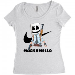funny fornite marshmello and the gun Women's Triblend Scoop T-shirt | Artistshot