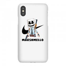 funny fornite marshmello and the gun iPhoneX Case | Artistshot