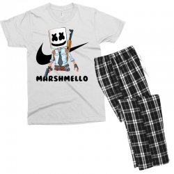 funny fornite marshmello and the gun Men's T-shirt Pajama Set | Artistshot