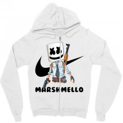 funny fornite marshmello and the gun Zipper Hoodie | Artistshot