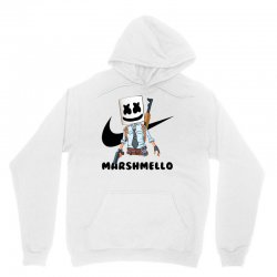 funny fornite marshmello and the gun Unisex Hoodie | Artistshot