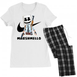 funny fornite marshmello and the gun Women's Pajamas Set | Artistshot
