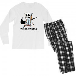 funny fornite marshmello and the gun Men's Long Sleeve Pajama Set | Artistshot