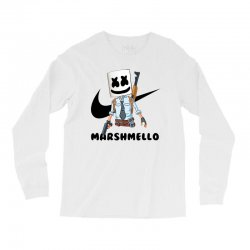 funny fornite marshmello and the gun Long Sleeve Shirts | Artistshot