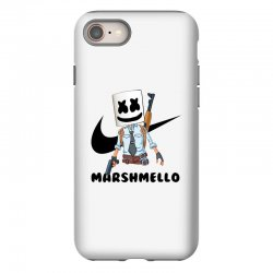 funny fornite marshmello and the gun iPhone 8 Case | Artistshot