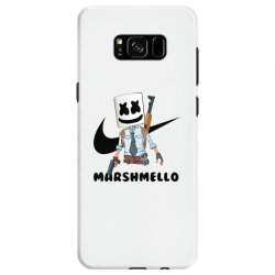 funny fornite marshmello and the gun Samsung Galaxy S8 Case | Artistshot