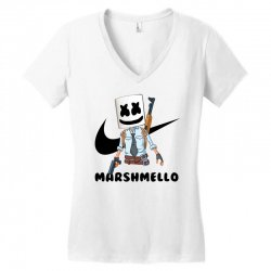 funny fornite marshmello and the gun Women's V-Neck T-Shirt | Artistshot