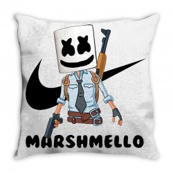 funny fornite marshmello and the gun Throw Pillow | Artistshot