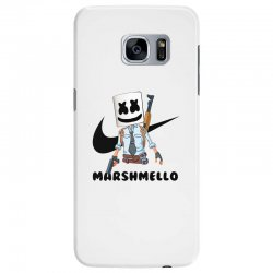 funny fornite marshmello and the gun Samsung Galaxy S7 Edge Case | Artistshot