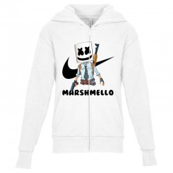 funny fornite marshmello and the gun Youth Zipper Hoodie | Artistshot