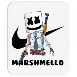 funny fornite marshmello and the gun Mousepad | Artistshot