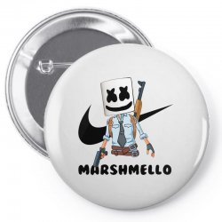 funny fornite marshmello and the gun Pin-back button | Artistshot
