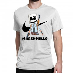 funny fornite marshmello and the gun Classic T-shirt | Artistshot