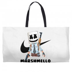 funny fornite marshmello and the gun Weekender Totes | Artistshot
