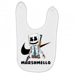 funny fornite marshmello and the gun Baby Bibs | Artistshot